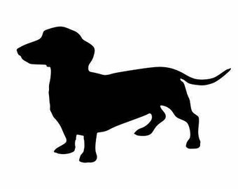 Dachshund Decal:  Dog Lover Decals, Dachshund Gifts, Weenie Dog Decals, Dachshund Decor, Animal Gifts, Stocking Stuffers, Christmas Gifts