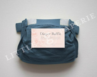 Diaper Raffle Tickets, Printable Diaper Raffle Card, Brunch for Baby Shower, INSTANT DOWNLOAD