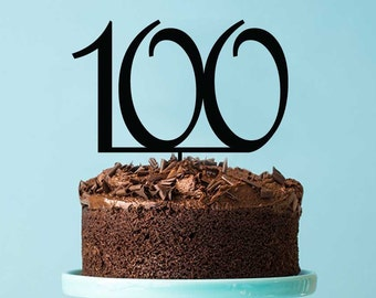 Acrylic Cake Topper - Number 100 Birthday (ARC1682-100) MADE IN Australia