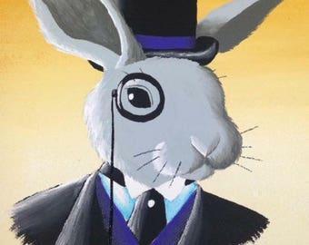 Dapper Bunny Print