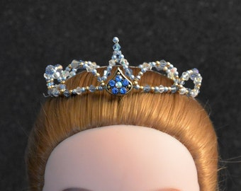 Ballet Headpiece. Crystal & glass bead crown for dance, performance, competition. YAGP