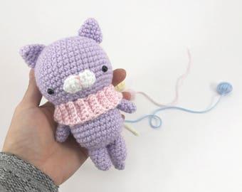 Crochet Cat, Amigurumi Cat, Crochet Kitty Doll, Plush Cat, Softie Doll Cat,Crochet Animal,  Crochet Plush, Amigurumi Animals, Kawaii Stuffed