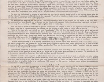 Black & White Vintage Christian Missionary Mission Letter from 1950's Delhi, India 4 pages Digital Download