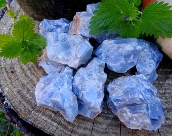 Large Raw Blue Calcite
