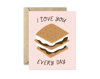 I Love You S'more - Greeting Card