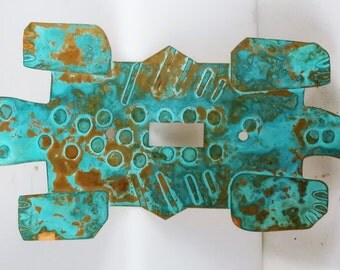Vintage Southwest Copper Gecko Wall Switch Plate - Decorative Wall Switch Plate Copper Design - Vintage Gecko Decorative Wall Switch Plate