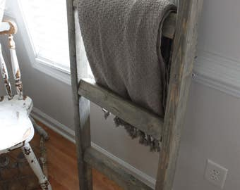 Blanket ladder- wood ladder- farmhouse decor- wood decor