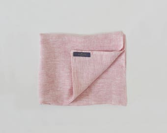 Pure Linen Pastel Pink Scarf