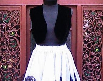 Black velvet Bolero  Vest (Skirt offered separately)
