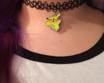 Pokemon Eevee and Pikachu necklace