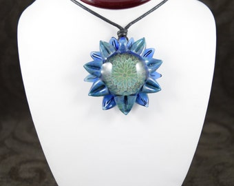 Borosilicate Glass Double Petal Sunflower