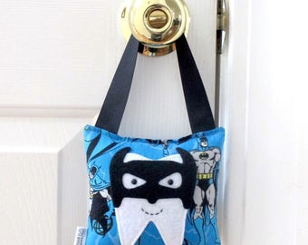 Boys Tooth Fairy Pillow - Personalized Tooth Fairy Pillow - Batman