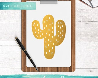 Cute Cactus SVG Cutting Files / Cactus Clip Art / Svg Dxf Png for Cricut Silhouette / Commercial Use ok