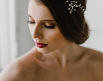 Bridal Hair Vine   Wedding Hair Vine   Bridal Headpiece   Crystal Wedding Headpiece   Silver Hair Vine   Isabelle Hair Vine