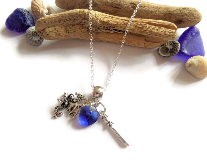 ONCE UPON A TIME tv series inspired charm tibetan silver necklace Prince Charming David Nolan fan gift Jewellery Uk