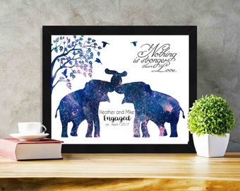 Framed Print Personalized Wedding gift for couples Wedding Present Black Framed Gifts