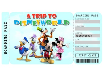 Carnival Cruise Printable Ticket Boarding Pass Customizable