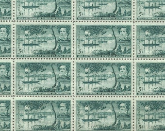 10 Opening of Japan Trade Unused US Postage Stamps 5 Cents Each 1953 Collect or Mail Invitations DIY Craft Supply Scott 1021 Green ~ 7922a
