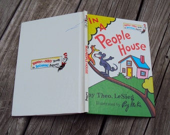 In A People House by Theo. LeSieg, Illustrated by Roy McKie, Dr. Seuss, Bright and Early Books for Beginners, Hardcover, Vintage 1972 Book