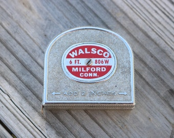 Vintage Walsco 6 ft tape measure