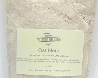 Colloidal oatmeal (oat flour), 16 oz  Great for soap making, beauty supplies and Oatmeal Bath.