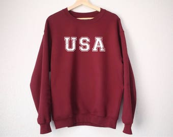 USA Sweatshirt - USA Sweater - America Sweatshirt - Tumblr Sweatshirt