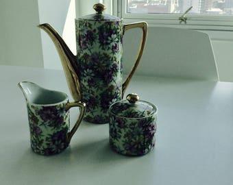 Colorful Crown Royal Tea set