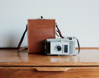 Polaroid J33 Land Camera & Leather Case
