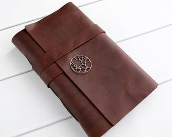 Personalized Travel Journal - Leather Bound Journal - Sketchbook -  Writing Notebook - Custom Monogram Gift - engraved gift - Art Journal