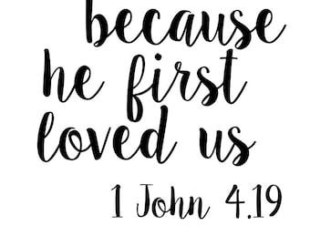Valentine's Day Scripture SVG File