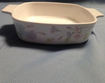 Corning Ware Bowl, Pastel Bouquet Pattern, A-1-B 1 Liter