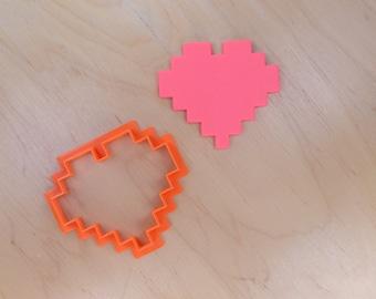 Zelda 8 bit Heart Cookie Cutter