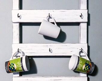 Coffee cup holder, coffee mug holder, tea cup rack, coffee bar, housewarming gift, kitchen decor, coffee, cup mug rack