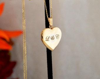 14k heart locket,Gold picture locket,Gold locket for her,Popular gold locket, Lockets,Personalized gold locket.