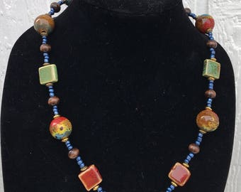 Chunky Matinee Beaded Necklace