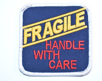 Fragile Handle With Care, Iron-on Patch Jeans Patch Jacket Patch Backpack Patch Applique Embroidered Patch Funny Patch Baby Clothing bb2