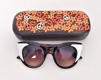 Retro Sunglasses, Cat Eye Sunglasses with Retro matching Sunglasses Case