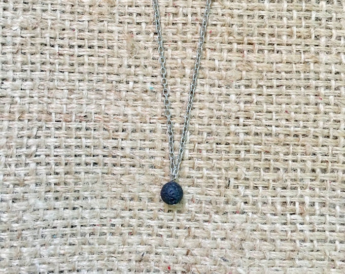 Lava Stone Diffuser, Lava Stone Necklace, Lava EO Necklace, Diffuser Necklace, Aromatherapy Jewlery, Stone EO Necklace, Beaded Diffuser