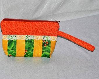 Zippered Clutch or Makeup Bag