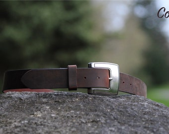 The Handmade Mens Leather Belt - 3 Colors (Browns)