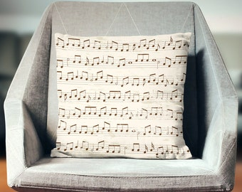Music Teacher Gift | Gifts for Musicians | Music Decor | Music Pillow | Musician Gifts | Music Throw Pillow | Music Gifts