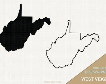 West Virginia Vector, State Clipart, WV Clip Art, West Virginia SVG, State PNG  (Design 13709)
