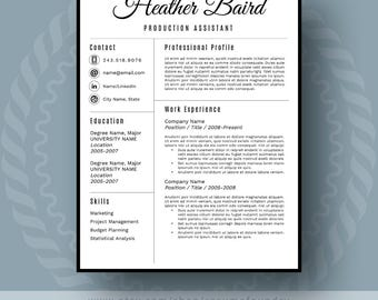bold and modern resume template for word 1 3 page resume cover letter - Us Resume Template