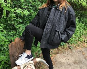 Black Leather 80s jacket