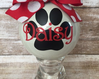 Personalized Pet Ornament/Vinyl Ornament/Personalized Pet Gift