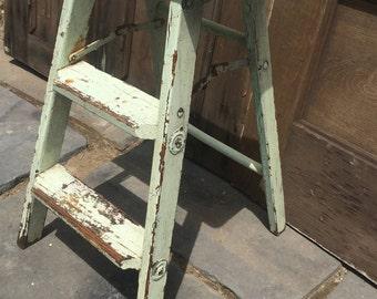Vintage Painted Step Ladder