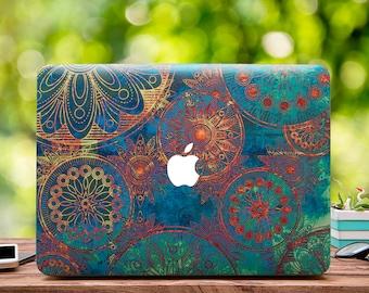 Boho Mandala Macbook Case MacBook Pro Retina 15 Mandala MacBook Retina 13 MacBook Air Case Laptop Sleeve MacBook Pro 15 Touch Bar WCm179