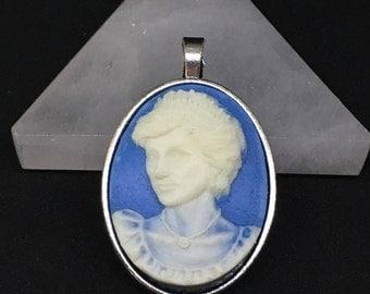 Princess Diana Cameo Blue 3D Charm