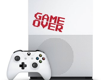 Game Over Decal - Gamer Decor / Nintendo Gifts / Game Over Sticker / Xbox Decal