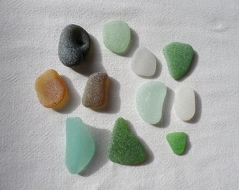 Large sea glass. Cabochons. Real sea flawless glass. Quality jewelry. Zen garden decoration or aquarium